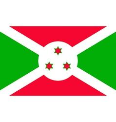 burundian flag vector image
