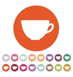 The cup icon tea symbol flat vector