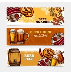 Beer banner set vector