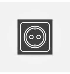 Electric socket icon or logo vector