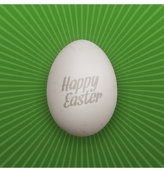 Easter realistic chicken egg with shadows vector