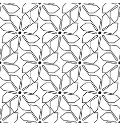 Black and white seamless pattern with line vector