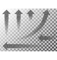 Set black arrows vector