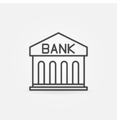 Bank linear icon vector image