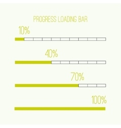 Linear loader bar vector