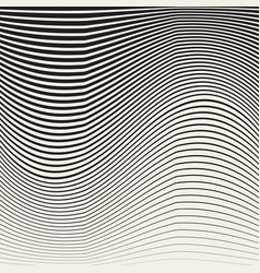 abstract black and white halftone vertical waves vector image vector image