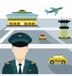 Airport flat concept vector