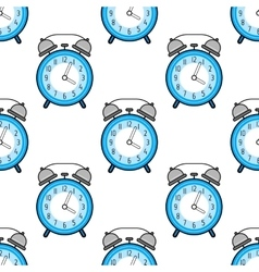 Alarm clock flat colored icon Seamless pattern vector image vector image