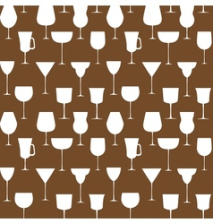 Alcoholic glass seamless pattern EPS 10 vector image vector image
