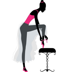 Ballet dancer dressing vector