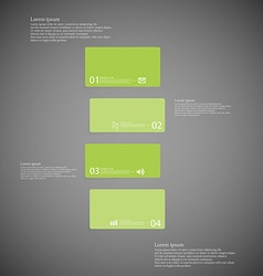 Bar template consists of four green parts on dark vector