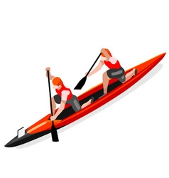 Canoe double 2016 sports isometric 3d vector