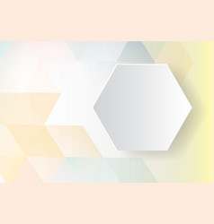 colorful hexagon abstract background vector image vector image