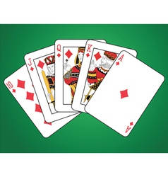Diamonds Royal Flush vector image vector image