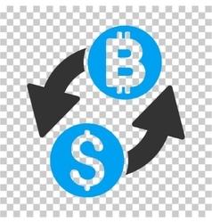 Dollar bitcoin exchange icon vector