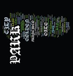Golden gate park text background word cloud vector