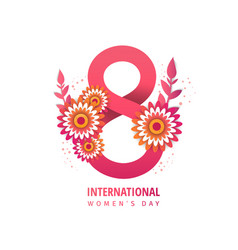 Greeting banner with pink flowers vector