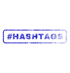 hashtag hashtags rubber stamp vector image