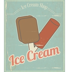 Ice Cream Vintage Card vector image vector image