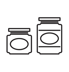 jam jar line silhouettes vector image vector image
