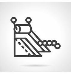 Line icon for conveyor part vector