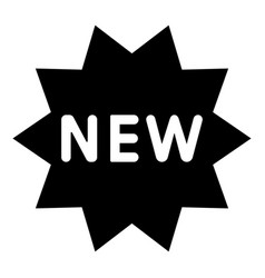 new symbol the black color icon vector image