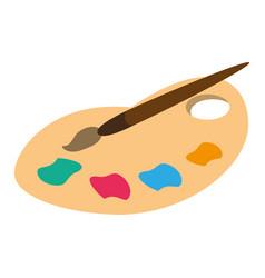 Palette color paint brush vector