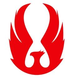 phoenix emblema red vector image vector image