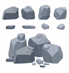 rocks stones collection different boulders in vector image vector image