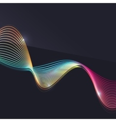 Smoke wave on dark background vector image