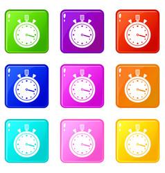Stopwatch set 9 vector