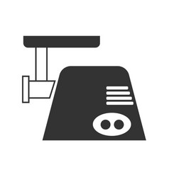 the gray meat grinder icon vector image vector image