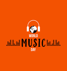 World music day celebration flat vector