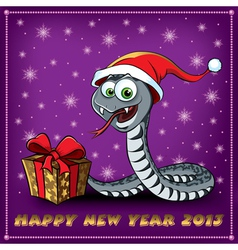 New Year Snake vector image