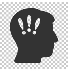 Head problems icon vector