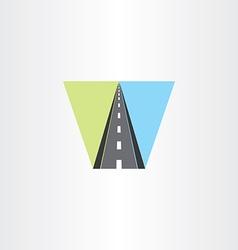 Highway icon logo sign vector
