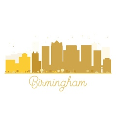 Birmingham city skyline golden silhouette vector