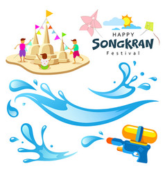 sign songkran festival of thailand vector image