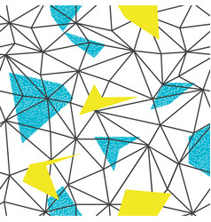 Triangles wire-frame seamless repeat pattern vector