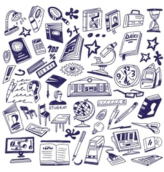 Education  books - doodles vector