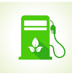 Bio fuel concept with petrol pump machine vector image