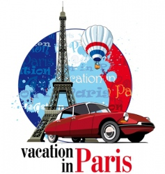 vacation in Paris vector image
