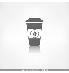 Takeaway paper coffee cup icon vector