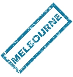 Melbourne rubber stamp vector