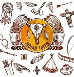 Native americans background vector