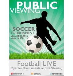 soccer tournament vector image