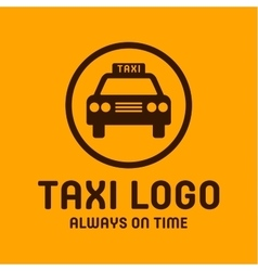 Taxi yellow logo icon style trend car sign vector