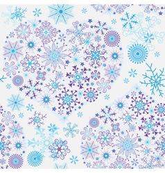 Seamless white christmas pattern vector