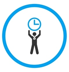 Time champion circled icon vector