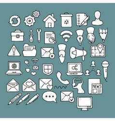 Set of doodle web computer and drawing icons vector